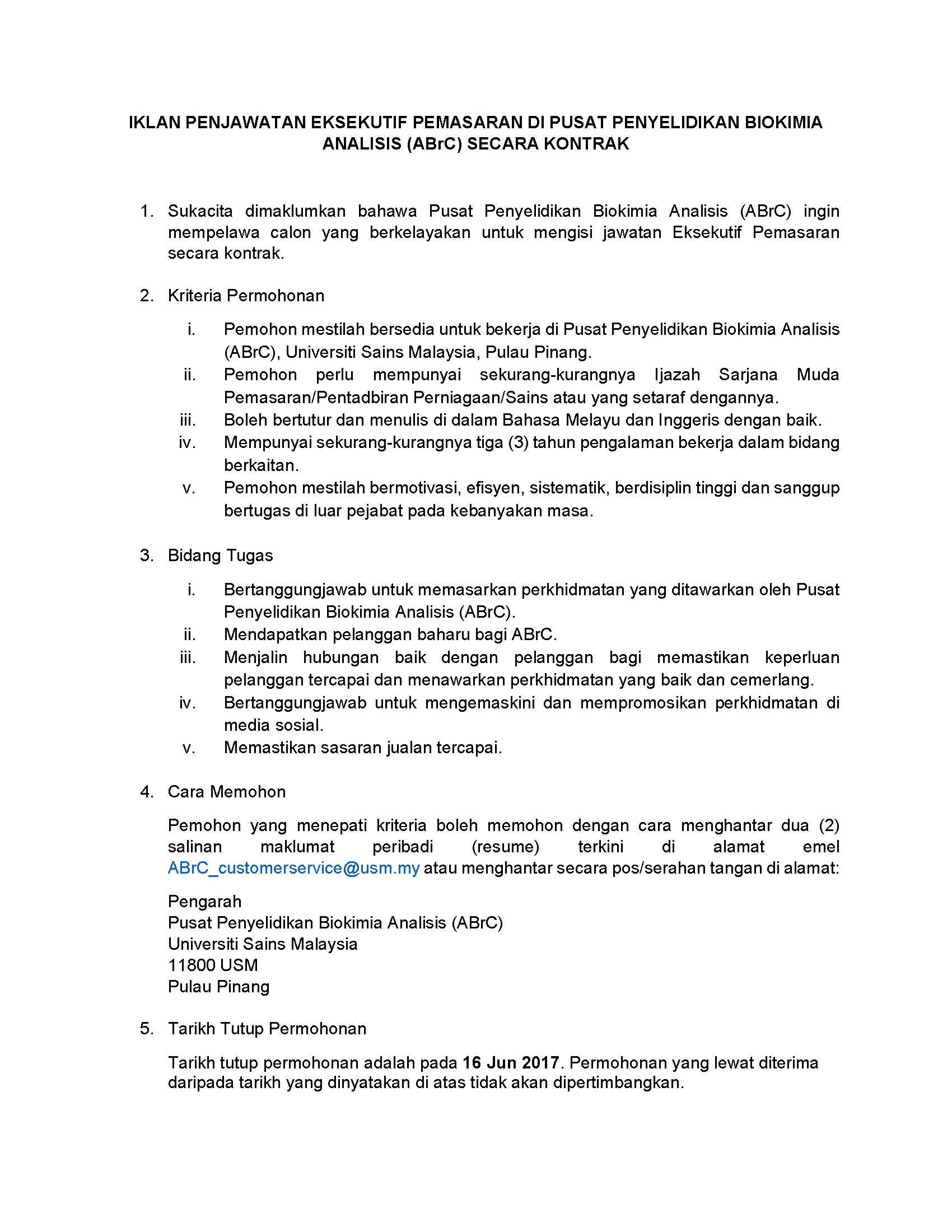 Excellent Resume Bahasa Melayu Images - Entry Level Resume ...